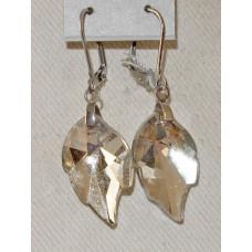 Leaf in Crystal Earrings No. e20056