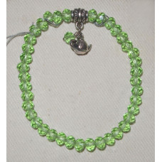 Green Crystal with Tea Bracelet No. m14089