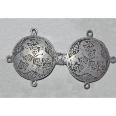 Cloak Clasp Celtic Horses No. m15016 - Medieval Cloak Clasp