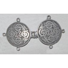 Cloak Clasp Celtic Hounds No. m15015 - Medieval Cloak Clasp