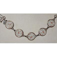 Red Rose Cameos Bracelet No. m15019
