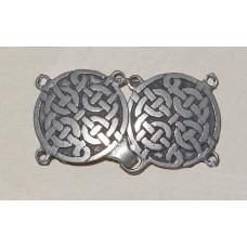 Cloak Clasp Celtic Knots No. m15017 - Medieval Cloak Clasp