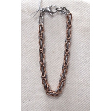 Byzantine Chain Bracelet in Black and Rose Gold No. m16130 of stainless steel