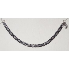 Byzantine Chain in Black and Steel Bracelet No. m16131