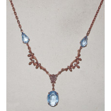 Bees with Sapphire colored gemstones Necklace No. n06134
