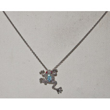 Frog with rhinestones on the back and as eyes Necklace No. n11171