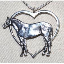 Häst Quarterhorse i Hjärta Hänge