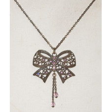 Rosette in Filigree with Light Amethyst Crystals Necklace No. n12209