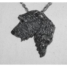 Irish Wolfhound Head Pendant no n13073