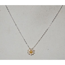Water Lily Yellow in Vermeil Necklace No. n16025