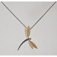 Dragonfly with Golden Wings Small Pendant No. n16077