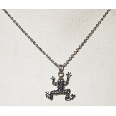 Frog Northern Leopard Frog Necklace No. n16305