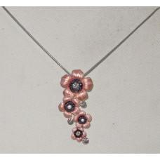 Flower Garland Petunia Handpainted Necklace No. n16498