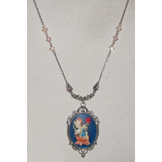 Fairy Hand Painted Cameo Necklace No. n16512
