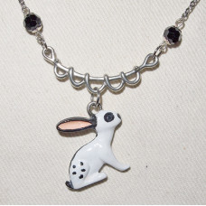 Rabbit 3-D English Scheck Pendant and Chain No. n16544