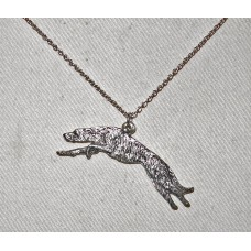 Skotsk Hjorthund Springande Handmålad Halsband nr n17090