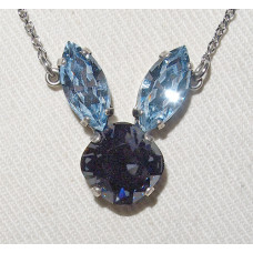 Rabbit Head in Crystal Necklace No. n17225