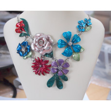 Flowers Handpainted Necklace No. n17249