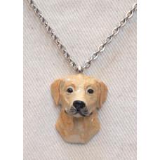 Labradorhuvud 3-D Handmålat Halsband nr n17116