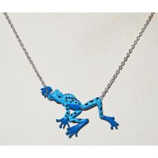 Frog Blue Poison Dart Cordhugger Necklace No. n18056