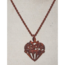 Heart with Loops and Leaves Necklace No. n18144