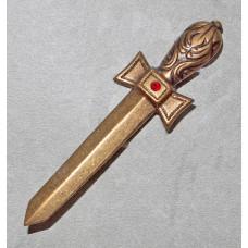 Cutlass/Sword with crystal in Color Siam Brooch  No. b06016