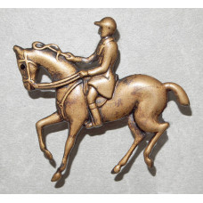 Horse with Dressage Rider Brooch No. b06036