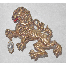 Lion in Heraldic Style Brooch No. b05111