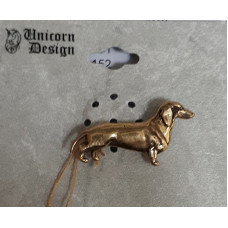 Dachshund Smooth Brooch No. b11006 - Bronze