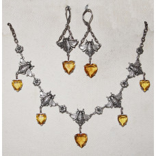 Bees with Honey drops Jewelery Set No. s06045
