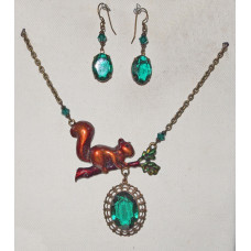 Squirrel on Branch Jewelery Set No. s12017