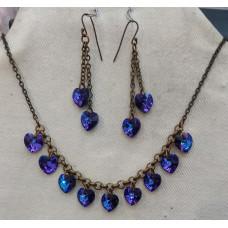 Hearts in Heliotrope Jewelry Set No. s12033