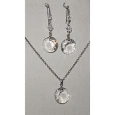 Crystal Disc Jewelery Set No. s14006
