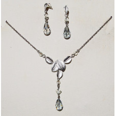 Leaves in Silver Jewelery Set No. s16001