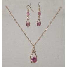 Heart in a Bottle Jewelery Set No. s16008