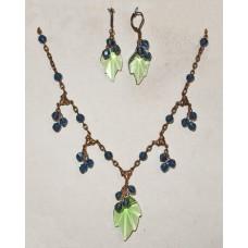 Blueberry Bushes Jewelery Set No. s16026