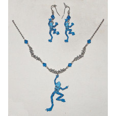 Frog Blue Poison Dart Jewelery Set No. s16028