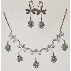 Dragonflies and Jade Jewelery Set No. s18002