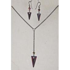 Art Deco in Dark Rainbow Colors Jewelry Set No. s19001