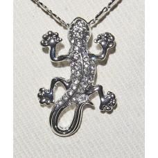 Lizard Jewelery Set No. s19005 - Glittering Lizards in Silver