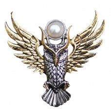 Owl of Athena Brooch for Magickal Wisdom by Briar